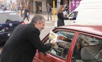 "Vereador Antônio Peres apresenta campanha ""De cara limpa ao volante"""