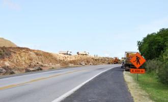 Bloqueios para obras na BR-116/RS são retomados em São Lourenço do Sul