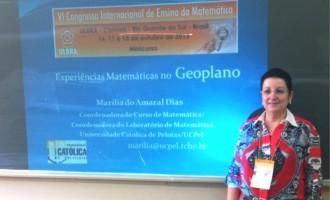 Docente da UCPel participa de evento internacional de Matemática