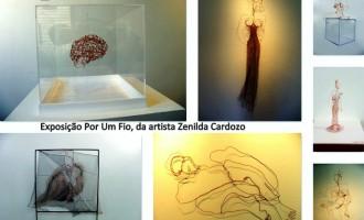 """Mostra individual """"Por um fio"""" e """"Jantar com arte"""" no Ágape"""