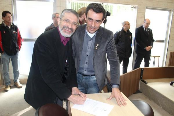 Toninho Peres com Ricardo Santos
