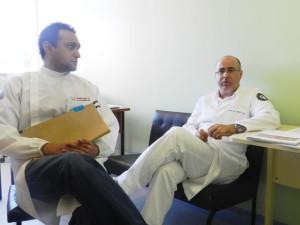 PROFESSORES Otacílio e Mário Pires confirmam suspensão do serviço  FOTO:  Augusto Santos/DM