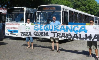 VIOLÊNCIA : Rodoviários protestam contra a insegurança