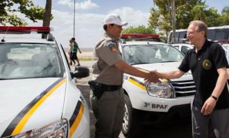 Governador vem a Pelotas e faz entrega de viaturas para Brigada Militar e Corpo de Bombeiros da Região Sul