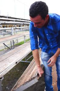Vereador Ricardo Santos avalia estruturas das arquibancadas