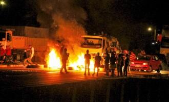 Protesto deixa feridos na BR 392