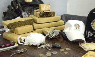 TRÁFICO: BM apreende 8,5 quilos de drogas