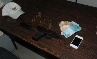 Policiais do 4º BPM prendem homem por porte ilegal de arma de fogo no Fragata