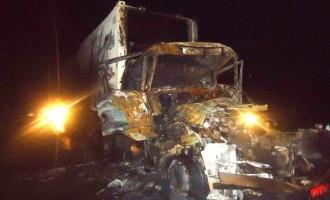 TRÂNSITO : Motorista morre carbonizado na 392