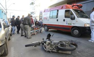 ACIDENTE : Motociclista ferido em colisão