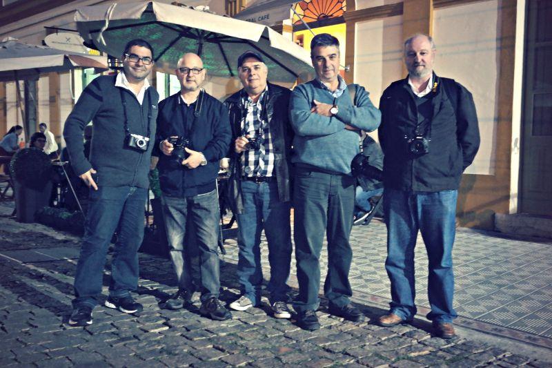 Fotógrafos Marcelo Soares, Luciano Piltcher, Vaz, Alfonso Montone e Paulo Krebs  CRÉDITO: Vera Garcia