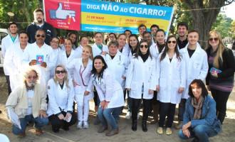 Hospital Escola realiza campanha contra o tabagismo
