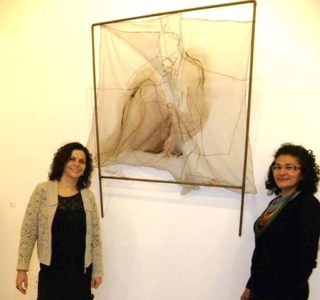 Artistas Zenilda Cardozo e Francis Silva na coordenação da mostra