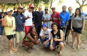 Estudantes e lideranças da periferia pelotense com o rapper paulista Eduardo