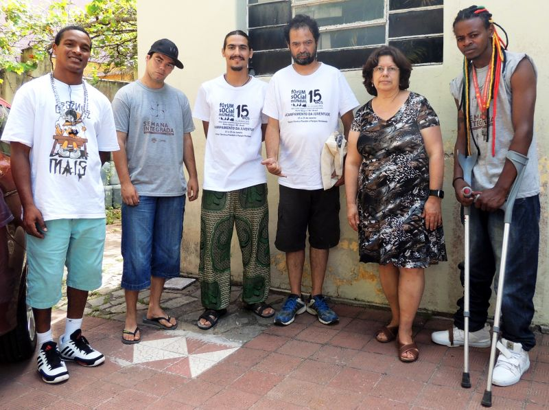 Christian (DMix), Quiésler (MC VPS), Vinicius Moraes, Cid Branco, prof. Lígia e Vitor