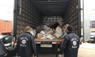Polícia incinera 3,7 toneladas de drogas