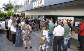 Sindicato dos Bancários realiza manifestação em defesa da manutenção da Caixa 100% pública