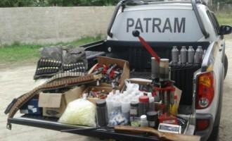 Patram localiza fábrica clandestina de munição