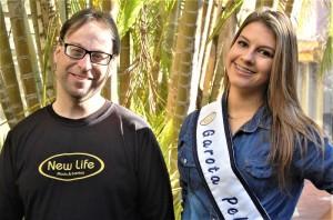 PAULO Madruga e Franciele divulgam o evento sócio-cultural
