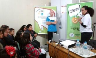 """Escola municipal da Z3 recebe o projeto """"Educação para a Paz"""""""