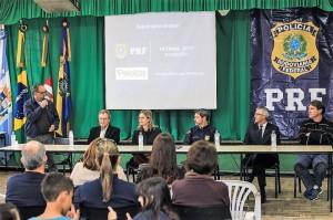 A ATIVIDADE é uma iniciativa da Polícia Rodoviária Federal com apoio da Prefeitura