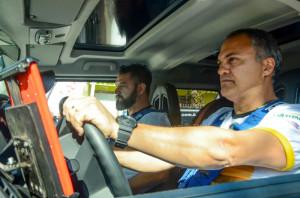 Aurélio (piloto) e Tiago (navegador): vitória em Guaíba e liderança Foto: Aline Bem/Divulgação