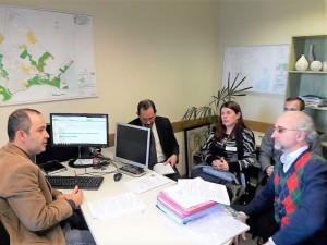 VEREADOR Marcus Cunha e dirigentes do SIMP com o promotor André Barbosa de Borba