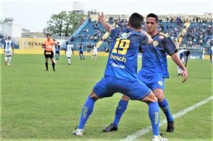 Pelotas tem tarde de lavar a alma: grande atuação, vitória de 2 a 0 diante do Aimoré e vaga encaminhada para a final da Paulo Sant'Ana Foto: AI ECP