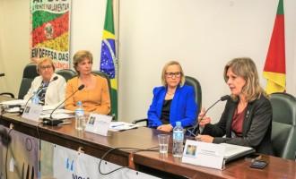 Paula apresenta o Pacto Pelotas Pela Paz em Brasília