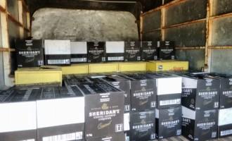R$50 MIL EM BEBIDAS : Ação conjunta da Receita e PF apreende contrabando de bebidas