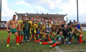 BATALHA DE BAGÉ : Farroupilha empata por 1 a 1 com Guarany e sobe para Divisão de Acesso