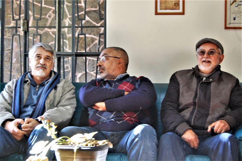 """COM Ivan (E) e Miltinho (D): """"Partido está forte no jogo"""""""
