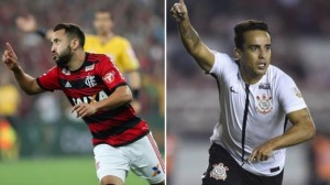 Everton Ribeiro e Jadson no primeiro jogo do confronto por vaga na final