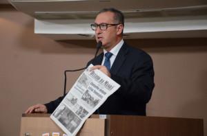 MARCOLA destaca notícias do DIÁRIO DA MANHÃ na Tribuna da Câmara