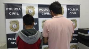 ADVOGADO (à dir.) não quis pagar a fiança arbitrada Foto: Divulgação/Polícia Civil