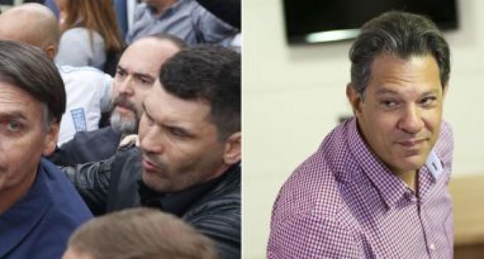Bolsonaro e Haddad vão lutar pela Presidência da República