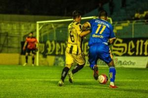 Jarro marcou o gol do Pelotas, mas descuido no segundo tempo resultou empate com o Bagé Foto: Tiago Winter/ECP