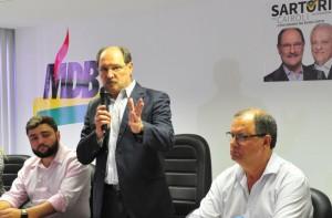 DECISÃO foi anunciada na sede estadual do partido  Foto : Luiz Chaves