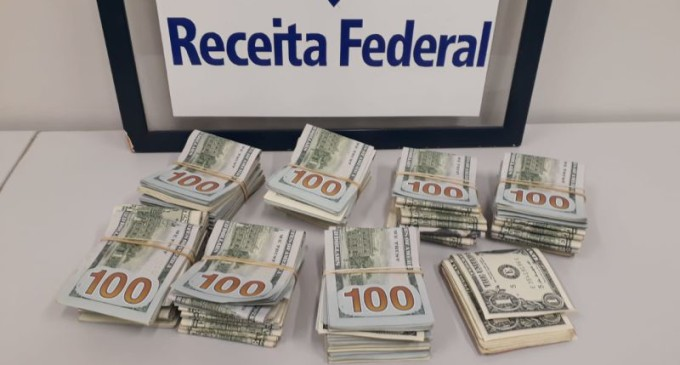 Receita Federal apreende mais de US$68 mil dólares no Chuí