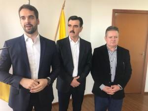EDUARDO Leite, Otomar Vivian e Ranolfo Vieira Júnior