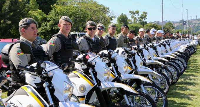 RS : Segurança Pública recebe 202 novos veículos. Pelotas receberá 05 motos