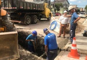 TÃO logo o Sanep libere trecho de substituição de rede de água, construtora iniciará intervenções entre Marechal Floriano e Gomes Carneiro