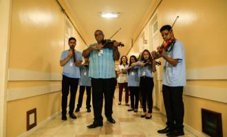 FESTIVAL DE MÚSICA : Orquestra de Minas Gerais leva música e alegria à Beneficência Portuguesa