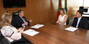 Em reunião com o vice-governador, prefeita apresentou demandas