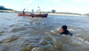 Transposição de curso d'água com técnica de flutuação