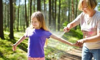Repelente: aplicação correta pode evitar alergias nas crianças