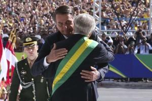 Michel Temer entregou a faixa presidencial em ato simbólico