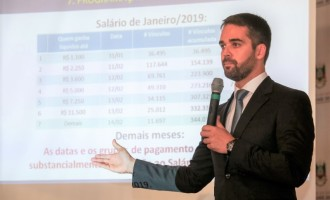 Eduardo demonstra situação financeira do Estado e prevê pagamento de salários