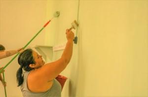 SERVIDORES de duas escolas uniram-se para renovar os ambientes