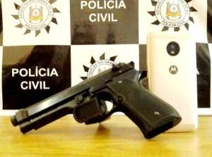 Simulacro de pistola era usado nas ações criminosas